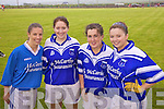 Some of the ladies from the Renard team who were the eventual winners on the day in Portmagee at the ladies football blitz in aid of Brest Cancer pictured here l-r; Sine?ad Curran, Triona O'Neill, Deirdre Murphy & Karen O'Neill.