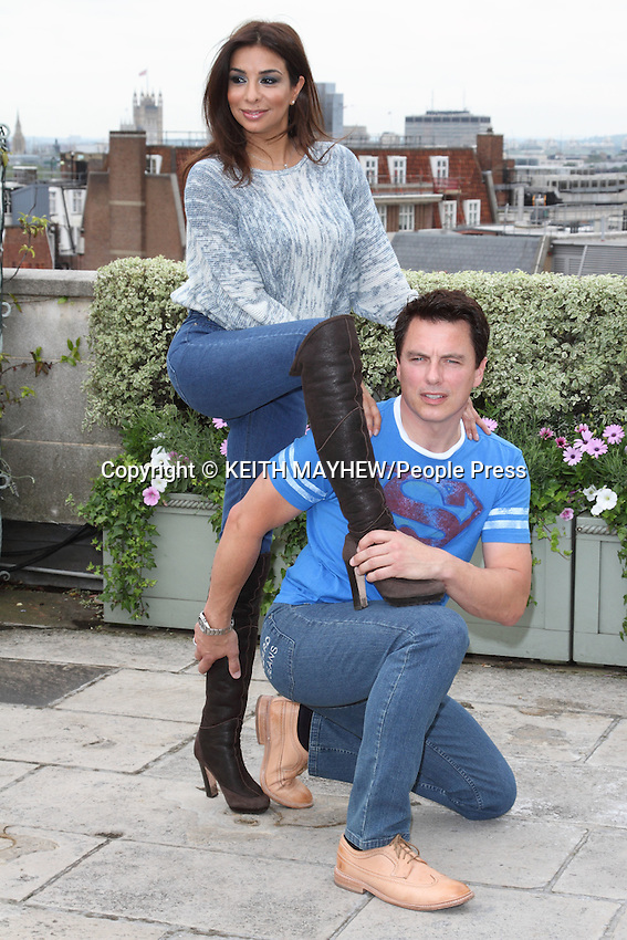 London - John Barrowman and Shobna Gulati are named 'Rear of the Year' winners at the Dorchester Hotel, Park Lane, London - June 27th 2012..Photo by Keith Mayhew