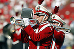 Madison, Wisconsin - 9/13/03. A University of Wisconsin band  performer plays during the UNLV game at Camp Randall Stadium. (Photo by David Stluka).