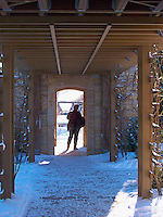 Another doorway offers a nice play of light and shadow at Olbrich Gardens in Madison, Wisconsin.