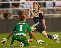 Real Madrid's Luka Modric during La Liga match on september 24th 2012.<br /> <br /> Photo: Cesar Cebola  / ALFAQUI