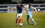 05.09.2019 Scotland u-21 v San Marino, European u-21 Championship 2021 Qualifying Round: Kyle Magennis of Scotland  and Alessandro Cecchetti of San Marino