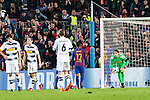 VfL Borussia Monchengladbach's Tobias Strobl, Andreas Christensen, Cristoph Kramer, Yann Sommer, FC Barcelona's Rafinha Alcantara, Leo Messi  during Champions League match between Futbol Club Barcelona and VfL Borussia Mönchengladbach  at Camp Nou Stadium in Barcelona , Spain. December 06, 2016. (ALTERPHOTOS/Rodrigo Jimenez)