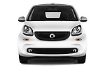 Car photography straight front view of a 2017 Smart Fortwo Passion 2 Door convertible Front View