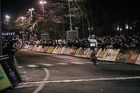 Sanne Cant (BEL/Iko-Beobank) winning<br /> <br /> Women's Race<br /> Superprestige Diegem / Belgium 2017
