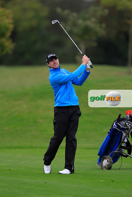 Patrick Small (Galway G.C) on the 14th during Round 4 of The Cassidy Golf 103rd Irish PGA Championship in Roganstown Golf Club on Sunday 13th October 2013.<br /> Picture:  Thos Caffrey / www.golffile.ie