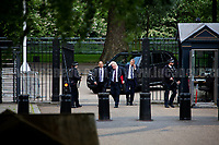 Boris Johnson MP (Secretary of State for Foreign and Commonwealth Affairs).<br /> <br /> London, 12/06/2017. Today, Theresa May's reshuffled Cabinet met at 10 Downing Street after the General Election of the 8 June 2017. Philip Hammond MP - not present in the photos - was confirmed as Chancellor of the Exchequer. <br /> After 5 years of the Coalition Government (Conservatives &amp; Liberal Democrats) led by the Conservative Party leader David Cameron, and one year of David Cameron's Government (Who resigned after the Brexit victory at the EU Referendum held in 2016), British people voted in the following way: the Conservative Party gained 318 seats (42.4% - 13,667,213 votes &ndash; 12 seats less than 2015), Labour Party 262 seats (40,0% - 12,874,985 votes &ndash; 30 seats more then 2015); Scottish National Party, SNP 35 seats (3,0% - 977,569 votes &ndash; 21 seats less than 2015); Liberal Democrats 12 seats (7,4% - 2,371,772 votes &ndash; 4 seats more than 2015); Democratic Unionist Party 10 seats (0,9% - 292,316 votes &ndash; 2 seats more than 2015); Sinn Fein 7 seats (0,8% - 238,915 votes &ndash; 3 seats more than 2015); Plaid Cymru 4 seats (0,5% - 164,466 votes &ndash; 1 seat more than 2015); Green Party 1 seat (1,6% - 525,371votes &ndash; Same seat of 2015); UKIP 0 seat (1.8% - 593,852 votes); others 1 seat. <br /> The definitive turn out of the election was 68.7%, 2% higher than the 2015.<br /> <br /> For more info about the election result click here: http://bbc.in/2qVyNRd &amp; http://bit.ly/2s9ob51<br /> <br /> For more info about the Cabinet Ministers click here: https://goo.gl/wmRYRd