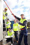 SWALEC Volunteers working at Maesybryn Primary School..L-R: Jason Lee, Robert Thomas, Shawne Huxton, Ian Blair & Jason Maunder..05.03.12.©STEVE POPE