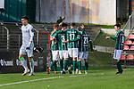 26.10.2019, Stadion Lohmühle, Luebeck, GER, Regionalliga Nord VFB Lübeck/Luebeck vs Hannover 96 II <br /> <br /> DFB REGULATIONS PROHIBIT ANY USE OF PHOTOGRAPHS AS IMAGE SEQUENCES AND/OR QUASI-VIDEO.<br /> <br /> im Bild / picture shows<br /> Torjubel zum 2:0 durch Dennis Hoins (VfB Luebeck)<br /> <br /> Foto © nordphoto / Tauchnitz