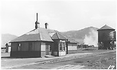 D&amp;RGW Sargent depot and water tank looking east.<br /> D&amp;RGW  Sargent, CO  pre 1955