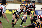 Ben Meyer about to pass to Blair Feeney during the Air NZ Cup rugby game between Bay of Plenty & Counties Manukau played at Blue Chip Stadium, Mt Maunganui on 16th of September, 2006. Bay of Plenty won 38 - 11.