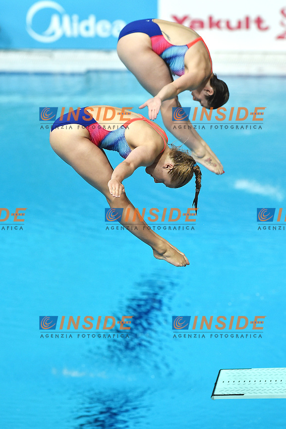 PUNZEL Tina, SUBSCHINSKI Nora GER <br /> Day2 25/07/2015 Aquatics Palace <br /> Diving / Tuffi Women's 3m Synchro Springboard - Trampolino Sincronizzato 3m Donne <br /> XVI FINA World Championships Aquatics  <br /> Kazan Tatarstan RUS <br /> Photo Andrea Staccioli/Deepbluemedia/Insidefoto