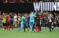 ATLANTA, Georgia - August 27: Atlanta United Celebrates during the 2019 U.S. Open Cup Final between Atlanta United and Minnesota United at Mercedes-Benz Stadium on August 27, 2019 in Atlanta, Georgia.