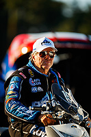 Sep 15, 2017; Concord, NC, USA; NHRA funny car driver John Force during qualifying for the Carolina Nationals at zMax Dragway. Mandatory Credit: Mark J. Rebilas-USA TODAY Sports