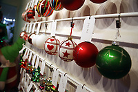 Pictured: Baubles in the showroom. Thursday 16 November 2017<br /> Re: Festive company which manufactures tinsel in Cwmbran, Wales, UK.