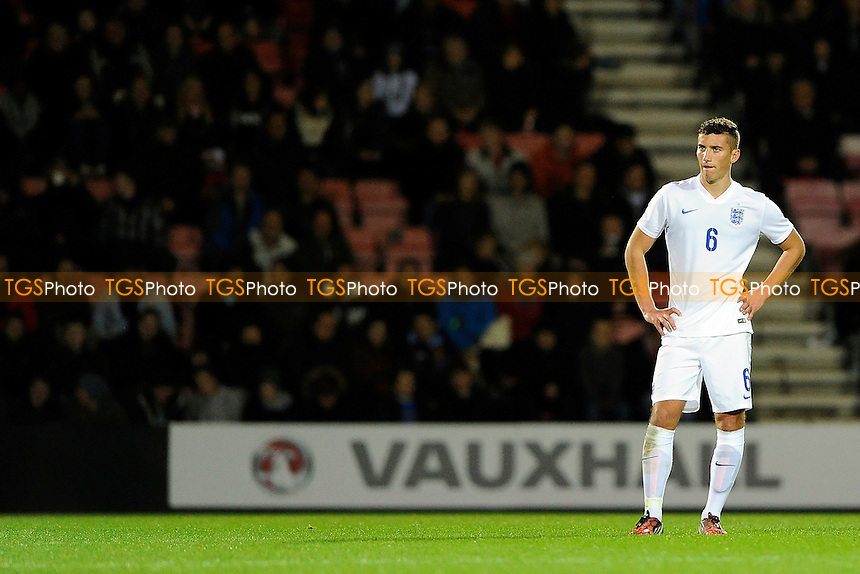Baily Cargill of England made his debut on his home ground at Bournemouth - England Under-20 vs Canada Under-20 - International Football at AFC Bournemouth, Goldsands Stadium, Kings Park, Boscombe, Bournemouth, Dorset - 12/11/14 - MANDATORY CREDIT: Denis Murphy/TGSPHOTO - Self billing applies where appropriate - contact@tgsphoto.co.uk - NO UNPAID USE