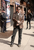 NEW YORK, NY - APRIL ,2014: Actor Johnny Depp visits The Late Show With David Letterman at the Ed Sullivan Theater, New York City ,April 3, 2014 in New York City. HP/Starlitepics