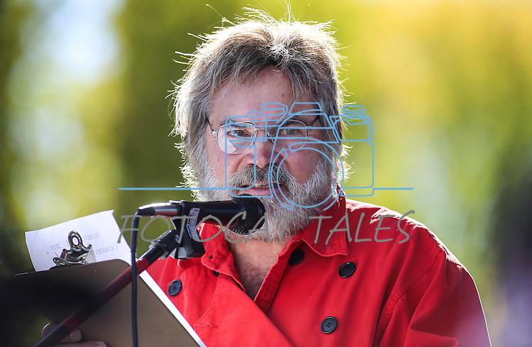 Bob Stransky chairs the Nevada Day Beard Competition in Carson City, Nev., on Saturday, Oct. 31, 2015. <br /> Photo by Cathleen Allison