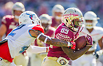Florida State wide receiver Keith Gavin runs against Delaware State in Tallahassee, Fl.  Florida State defeated Delaware State 77-6 in NCAA football.