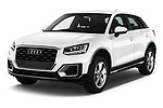2017 Audi Q2 Sport 5 Door SUV angular front stock photos of front three quarter view