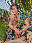 10 June 2014: Ed Wolfstein and Sally Herschorn, celebrating their 30th Wedding Anniversary, pose for a photo at Cobalt Coast Resort, in West Bay, Grand Cayman Island. Located in the British West Indies in the Caribbean, the Cayman Islands are renowned for excellent scuba diving, snorkeling, beaches and banking.  Mandatory Credit: Ed Wolfstein Photo *** RAW (NEF) Image File Available ***
