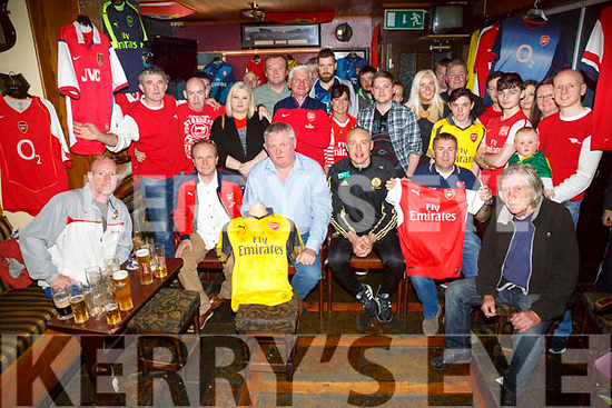 Kieran Donaghy was invited to pull out the winning tickets at the Arsenal supporters club fundraiser, Raising €1000 in aid of the Kerry Cork Health Link Bus on Sunday. Winners were Tom Crowley, Fenit, and Mike Kennedy, Listowel