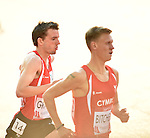 Wales' Dewi Griffiths, left, run in the 10,000m final<br /> <br /> Photographer Chris Vaughan/Sportingwales<br /> <br /> 20th Commonwealth Games - Day 9 - Friday 1st August 2014 - Athletics - Hampden Park - Glasgow - UK