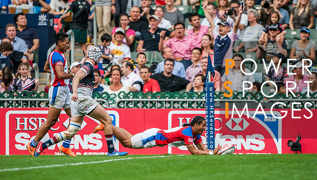 XXX plays XXX during the Cathay Pacific / HSBC Hong Kong Sevens at the Hong Kong Stadium on 28 March 2014 in Hong Kong, China. Photo by Andy Jones / Power Sport Images