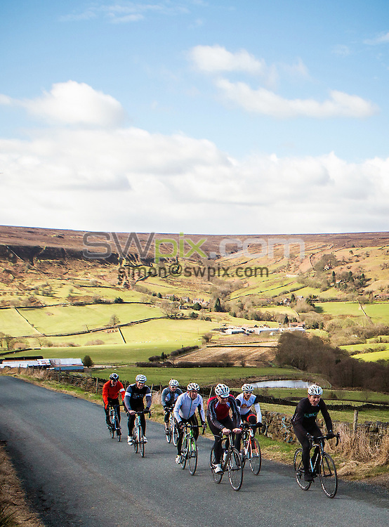 Picture by Alex Whitehead/SWpix.com - 31/03/2015 - Cycling - Tour de Yorkshire Reconnaissance, Stage 1: Bridlington to Scarborough - Yorkshire, England - Cyclists and media join former professional rider Sean Kelly on a recon of the first stage of Tour de Yorkshire, taking in a section of the route from Pickering to Whitby.