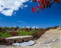 Dominikanische Republik, Altos de Chavon, Kuenstlerdorf, Amphitheater | Dominican Republic, Altos de Chavon, artist's village, amphitheatre