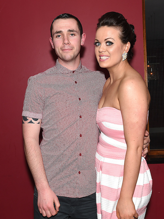 Cormac Coyle and Aoife Duff celebrating their engagement in Brú. Photo:Colin Bell/pressphotos.ie