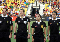 Referees during the WPS All-Star game at KSU Stadium in Kennesaw, Georgia on June 30 2010. Marta XI won 5-2.