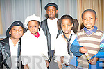 CONCERT: Enjoying the Hannah Montana concert at the Fels Point Hotel on Saturday l-r: JR and Cleo Tsitilcota, Junior Ankoma, Vanessa Williams and Elvis Anicoma from Tralee and South Africa.
