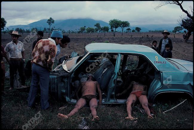 Death squad victims, civil war, El Tejar, Guatemala, March 1982