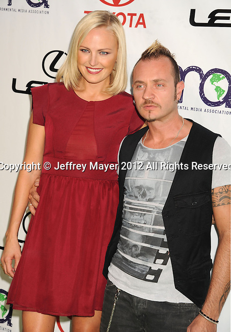 BURBANK, CA - SEPTEMBER 29: Malin Akerman and Roberto Zincone  arrive at the 2012 Environmental Media Awards at Warner Bros. Studios on September 29, 2012 in Burbank, California.