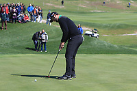 Jon Rahm (ESP) on the 4th green during Round 1 of the Open de Espana 2018 at Centro Nacional de Golf on Thursday 12th April 2018.<br /> Picture:  Thos Caffrey / www.golffile.ie<br /> <br /> All photo usage must carry mandatory copyright credit (&copy; Golffile | Thos Caffrey)
