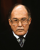 Chief Justice of the United States William H. Rehnquist poses for a photo during a photo-op at the U.S. Supreme Court in Washington, D.C. on Tuesday, September 11, 1990.  Rehnquist was appointed Chief Justice in 1986 by U.S. President Ronald Reagan.  .Credit: Robert Trippett / Pool via CNP
