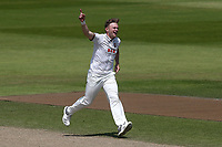 Sam Cook of Essex celebrates taking the wicket of Alex Davies during Lancashire CCC vs Essex CCC, Specsavers County Championship Division 1 Cricket at Emirates Old Trafford on 11th June 2018