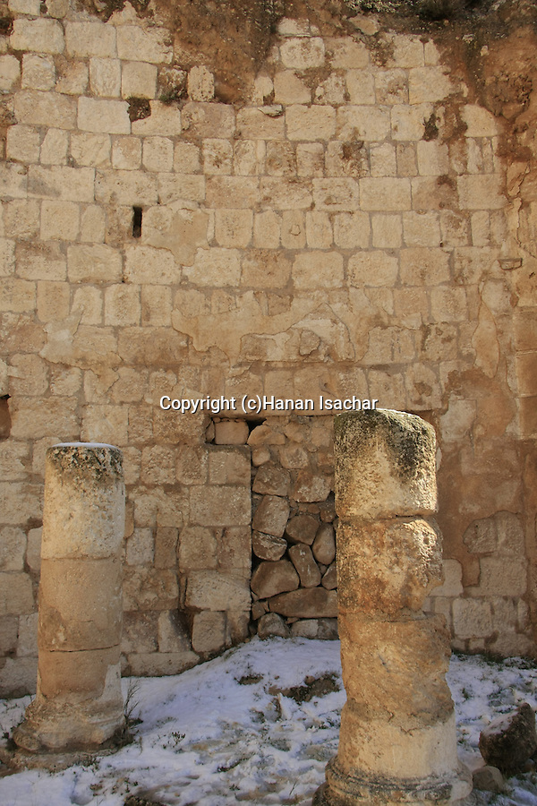 Judea, Herodion, built by Herod the Great as a fortified palace, columns at the Southern Portico