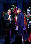 "Casey Nicholaw and Rob Martin during the Broadway Opening Night Curtain Call of ""The Prom"" at The Longacre Theatre on November 15, 2018 in New York City."