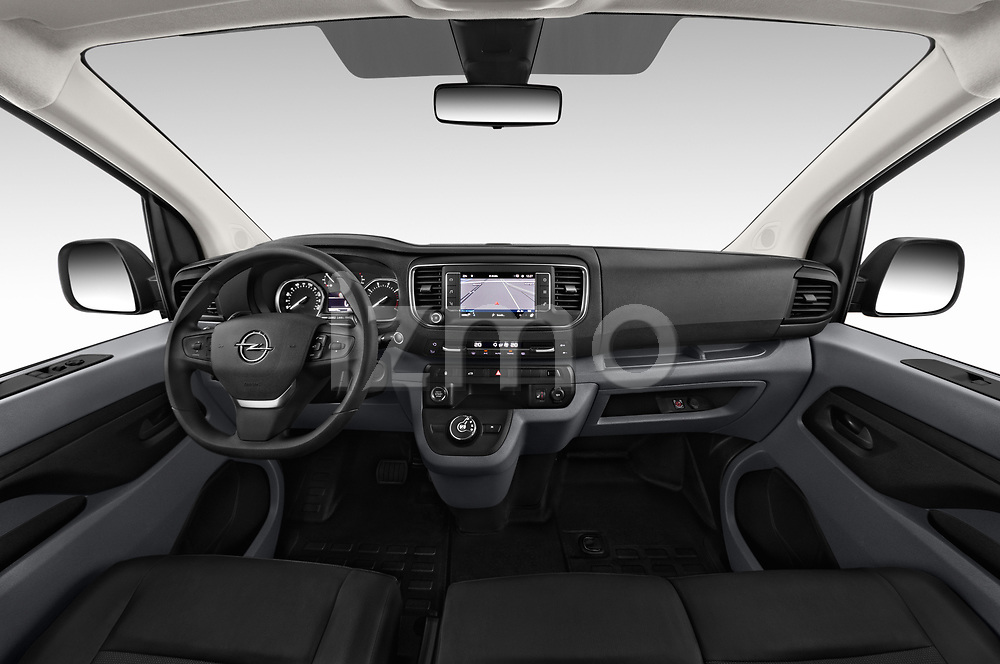 Stock photo of straight dashboard view of a 2020 Opel Vivaro Innovation 4 Door Cargo Van