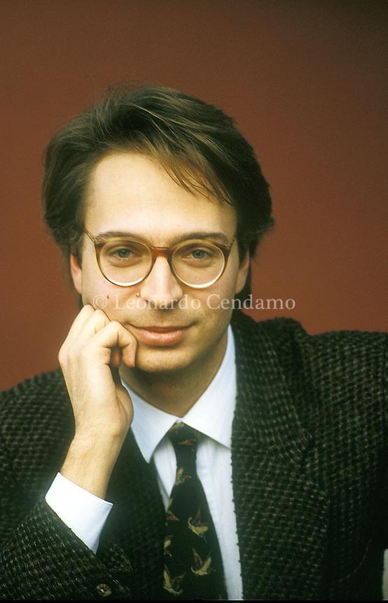 Venice, Italy, 2000. Riccardo Ferrante, Italian writer. © Leonardo Cendamo