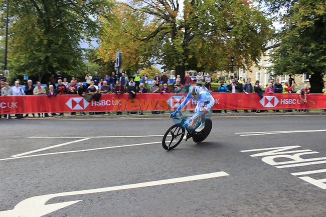 Jan Barta (CZE) in action during the Men Elite Individual Time Trial of the UCI World Championships 2019 running 54km from Northallerton to Harrogate, England. 25th September 2019.<br /> Picture: Andy Brady | Cyclefile<br /> <br /> All photos usage must carry mandatory copyright credit (© Cyclefile | Andy Brady)