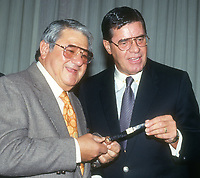 Buddy Hackett Jerry Lewis<br /> 1991<br /> Photo By John Barrett/CelebrityArchaeology.com