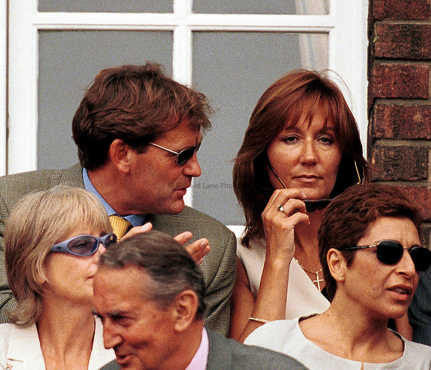 Picture : Jason Green.GLENN HODDLE WITH HIS NEW WIFE VANESSA.AT QUEENS CLUB TODAY.14-06-00..