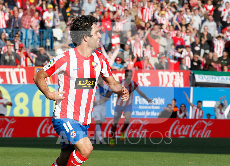 Madrid (14/04/2012).- Estadio Vicente Calderon.Liga BBVA.Atletico de Madrid-Espanyol.Arda...Photo: Alex Cid-Fuentes / ALFAQUI..