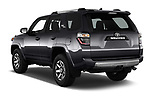 Car pictures of rear three quarter view of 2018 Toyota 4Runner Off-Road 5 Door SUV angular rear