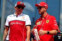 #05 Sebastian Vettel, Scuderia Ferrari. Hungarian GP, Budapest  2-4 August 2019 with Kimi Raikkonen<br /> Budapest 04/08/2019 GP Hungary <br /> Formula 1 Championship 2019 Race  <br /> Photo Federico Basile / Insidefoto