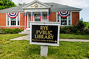 Rye Public Library in the historical district of Rye, New Hampshire USA