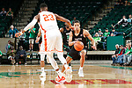 DENTON TEXAS, March 1: University of North Texas Mean Green Men's Basketball v Mercer University at the Super Pit in Denton on March 19, 2018 (Photo Rick Yeatts Photography/Colin Mitchell)